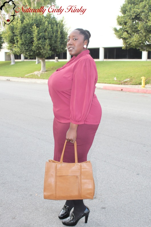 Burgundy, Fall Trends, Fall Trend, Plus Size, Plus Size Fashion, Fashion, Style, OOTD, Outfit of the day, HOTD, Hair of the day, Natural Hair, Kinky Hair, Curly Hair, Plus, Blogger, Lucky