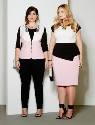 Pink and black colorblock