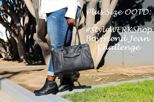 Plus Size, Fashion, Plus Size Fashion, OOTD, Outfit of the Day, Boyfriend Jeans, Moto Jacket, Ankle Boots, Plus Size Blog, Plus Size Fashion Blogger, Fashion Blogger, Curvy Fashion, StyleWERKShop, BLM, Style Challenge
